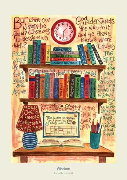 Hannah Dunnett Wisdom Art Print Cream Border
