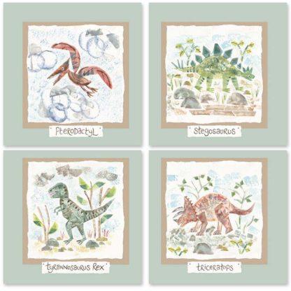 Hannah Dunnett dinosaurs kids mix and match cards