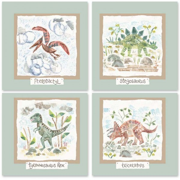 Hannah Dunnett dinosaurs kids mix and match cards