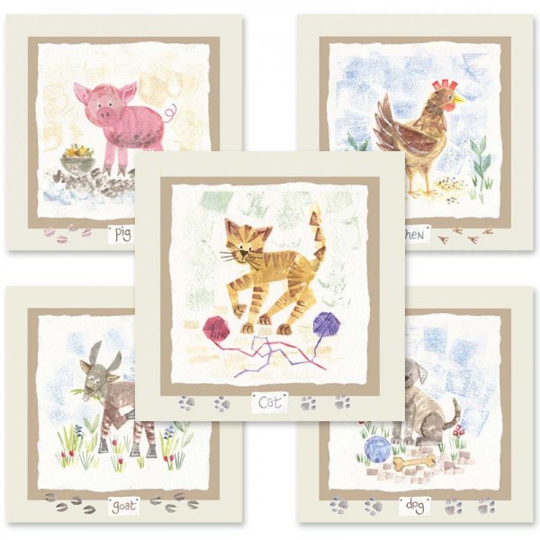 Hannah Dunnett kids animals mix and match cards