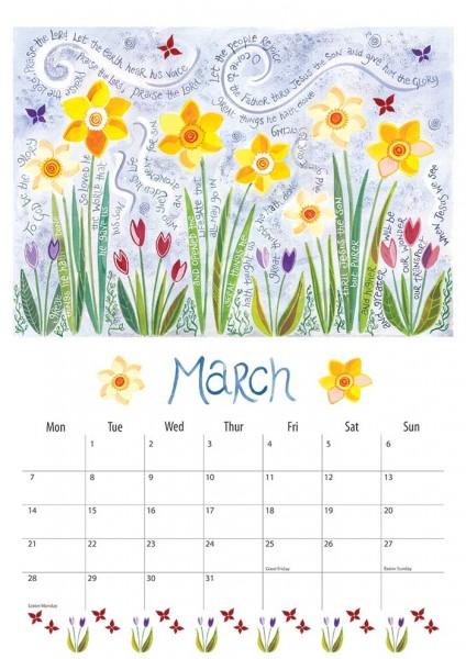 Hannah Dunnett 2016 Calendar March
