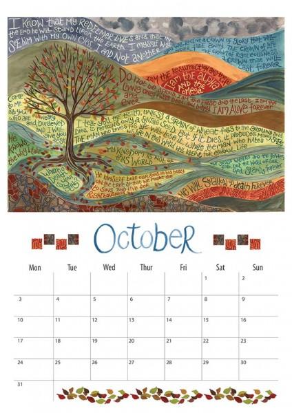 Hannah Dunnett 2016 Calendar October