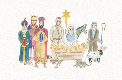 Hannah Dunnett Advent Calendar Crib scene
