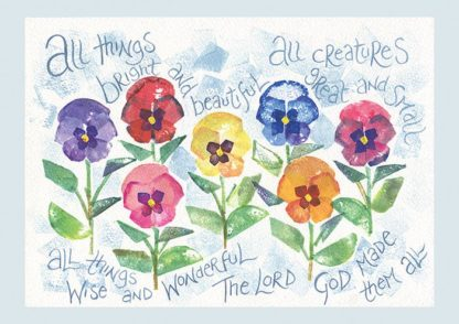 Hannah Dunnett All Things Bright and Beautiful notecard