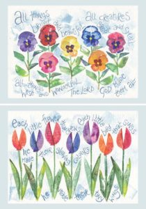 Hannah Dunnett All Things Bright and Each Little Flower Notecards version