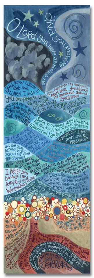 Hannah Dunnett psalm 139 bookmark front image