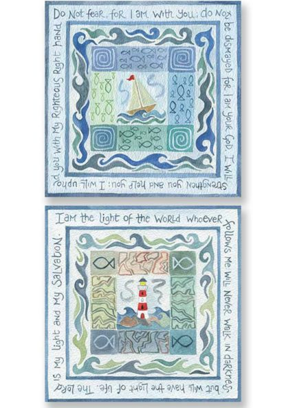 Hannah Dunnett Do Not Fear and My Light and My Salvation Notecards version