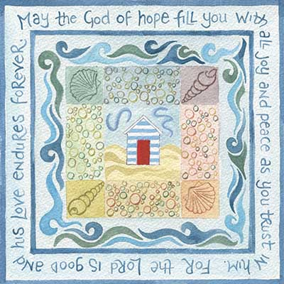 Hannah Dunnett God of Hope notecard