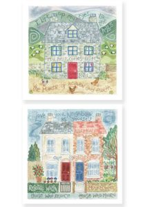 Hannah Dunnett I Lift Up My Eyes and Love Your Neighbour Notecards version