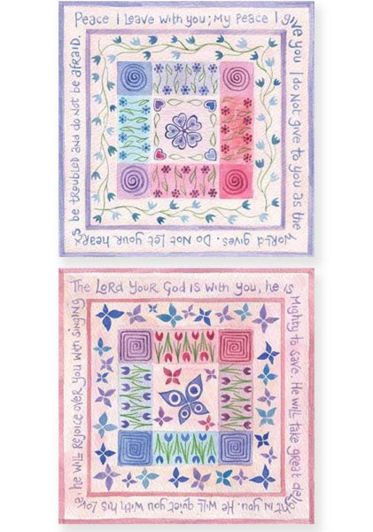 Hannah Dunnett Peace I Leave With You and He Will Rejoice Over You Notecards version