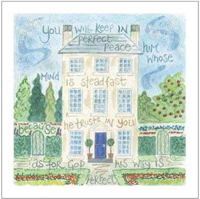 Hannah Dunnett Perfect Peace notecard with border