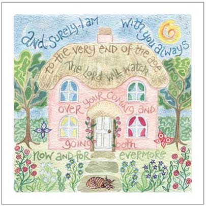 Hannah Dunnett Surely I am with you notecard with border
