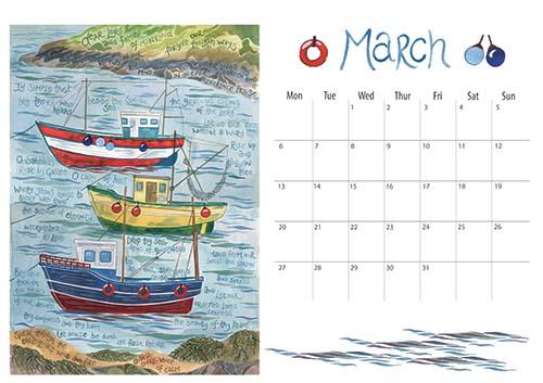 Hannah Dunnett 2017 calendar March