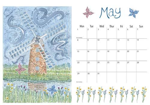 Hannah Dunnett 2017 calendar May