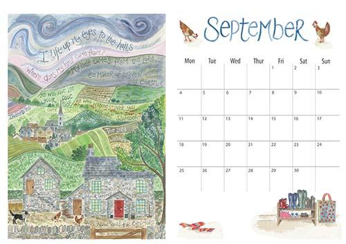 Hannah Dunnett 2017 calendar September