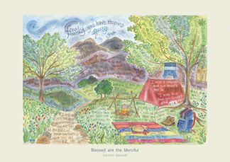 Hannah Dunnett Blessed are the merciful greetings card