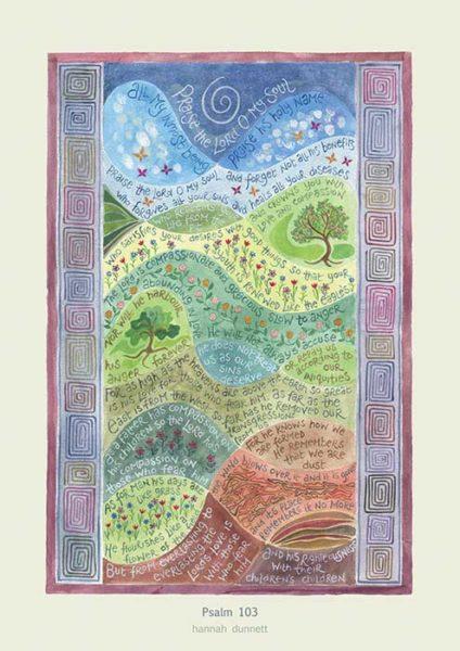 Hannah Dunnett Psalm 103 greetings card