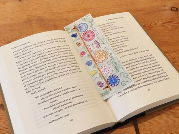 Hannah Dunnett A Time For Everything bookmark on book