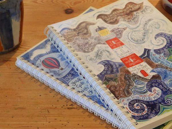 Hannah Dunnett Light of the World notebook super closeup image