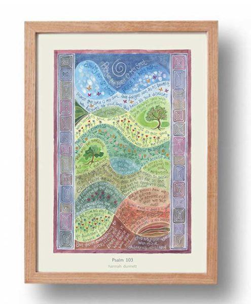 hannah-dunnett-psalm-103-a3-poster-oak-frame