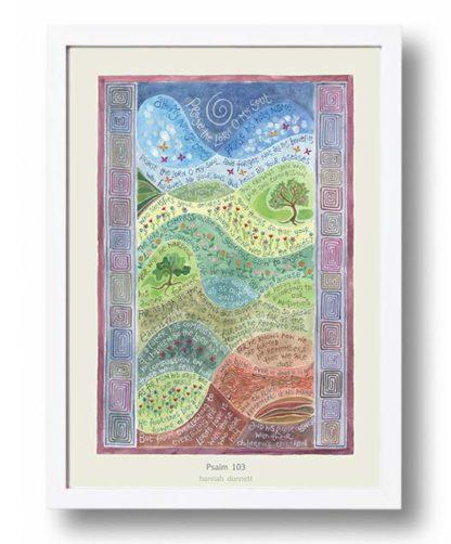 hannah-dunnett-psalm-103-a3-poster-white-frame