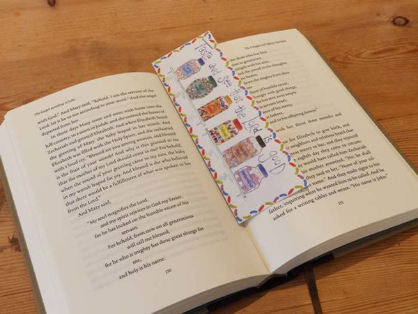 Hannah Dunnett Taste and See Bookmark on Book