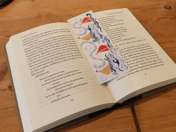 Hannah Dunnett Trust in God bookmark on book