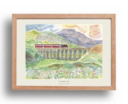 Hannah Dunnett Consider Him A3 Poster oak frame