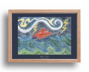 Hannah Dunnett Mighty To Save A3 Poster oak frame