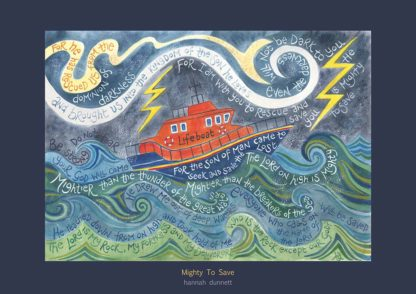 Hannah Dunnett Mighty To Save greetings card
