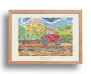 Hannah Dunnett Strong in The Lord A3 Poster oak frame