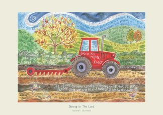 Hannah Dunnett Strong in The Lord greetings card