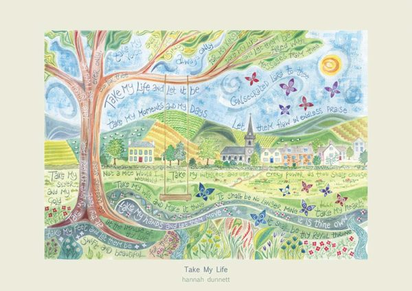 Hannah Dunnett Take My Life greetings card