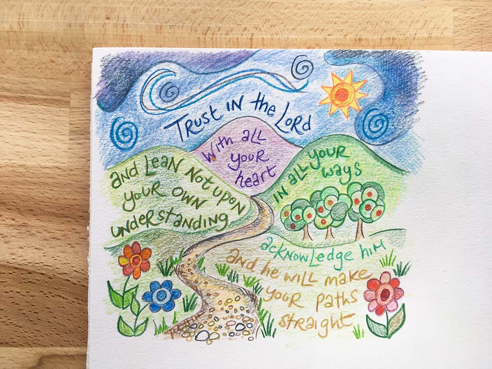 Hannah Dunnett Trust in The Lord Thought for the week closeup image