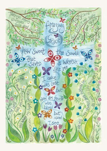 Hannah Dunnett Amazing Grace notecard