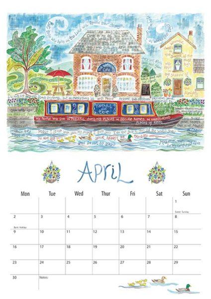 Hannah Dunnett 2018 calendar April