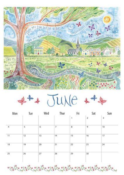 Hannah Dunnett 2018 calendar June