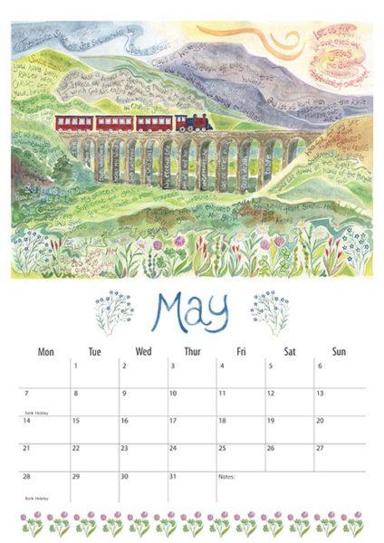 Hannah Dunnett 2018 calendar May