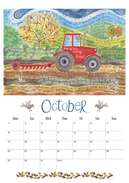 Hannah Dunnett 2018 calendar October