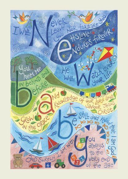 Hannah Dunnett New Baby Blue version greetings card