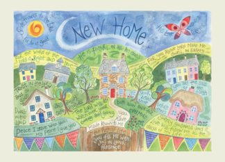 Hannah Dunnett New Home greetings card