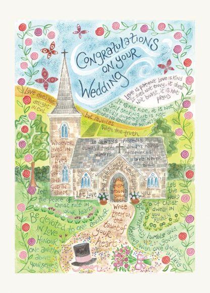 Hannah Dunnett Wedding greetings card