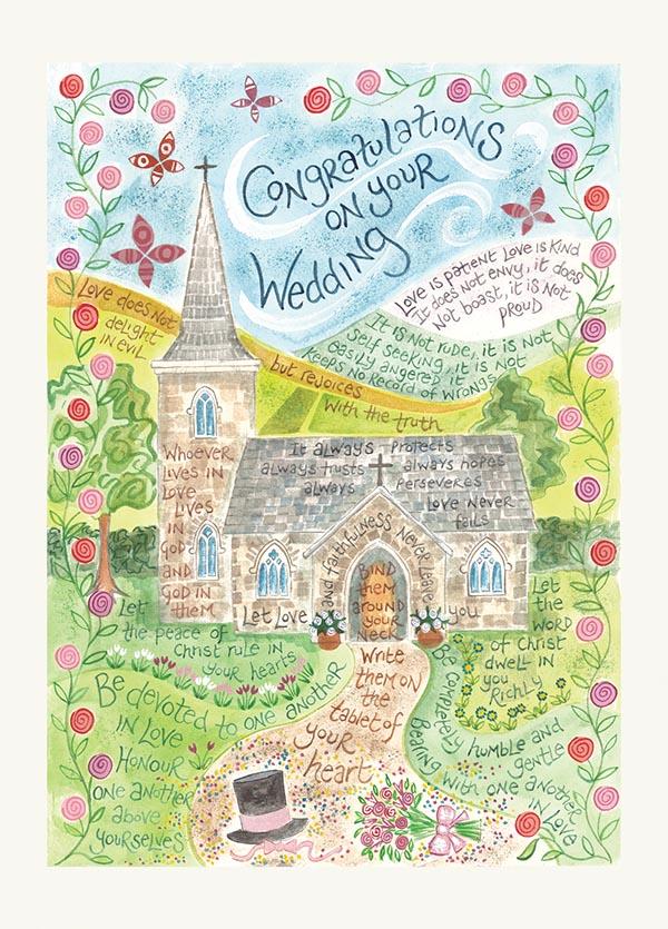 Wedding card ben and hannah dunnett hannah dunnett wedding greetings card m4hsunfo