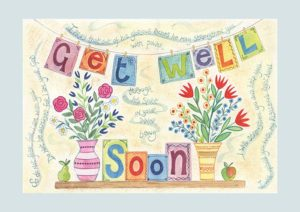 Hannah Dunnett Get Well Soon greetings card