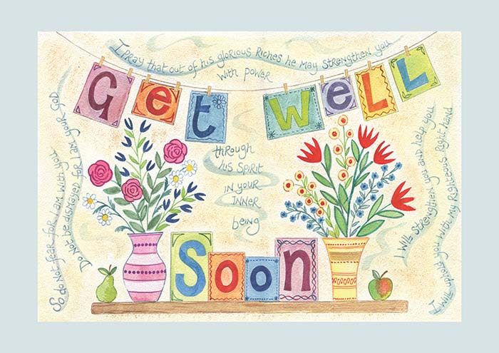 Get well soon card ben and hannah dunnett hannah dunnett get well soon greetings card m4hsunfo Choice Image