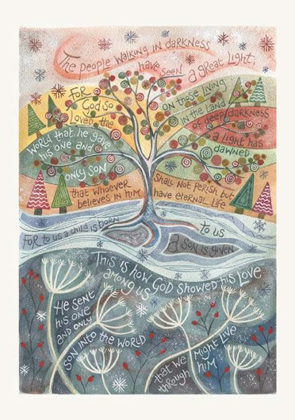 Hannah Dunnett God so loved the world Christmas card