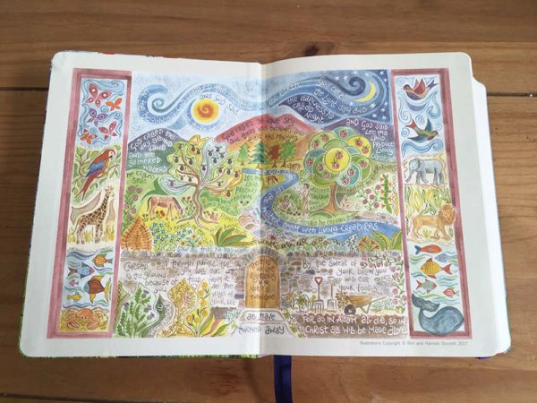 Hannah Dunnett Journalling Bible front end page