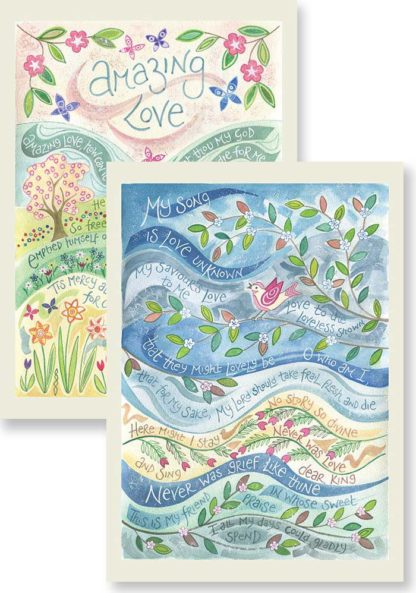 Hannah Dunnett Amazing Love and My song is love unknown Notecards