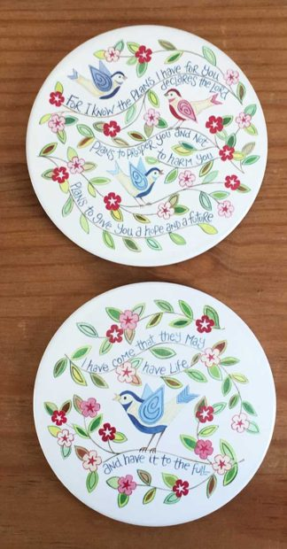 Hannah Dunnett For I Know The Plans and I have come coasters image