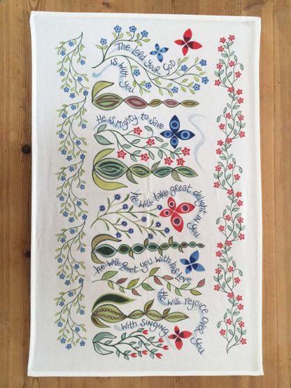 Hannah Dunnett Great Delight Tea Towel design